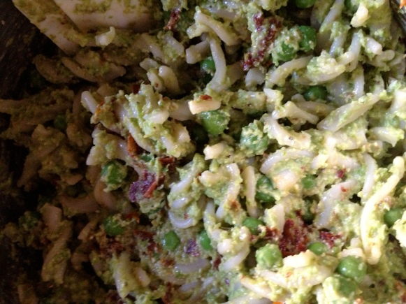 asparagus pesto pasta salad // batch-22