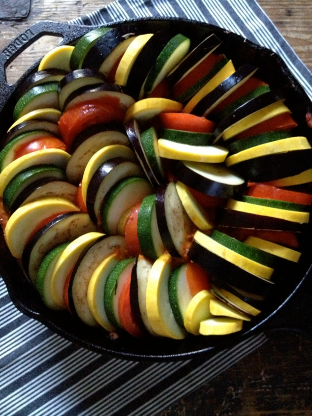 single skillet ratatouille // batch-22
